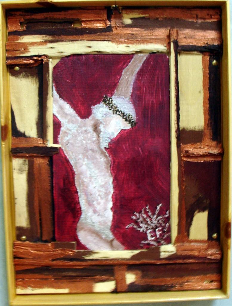 In croce - tecnica mista su fondo di plateau - 2006