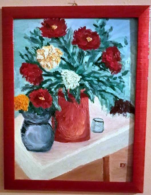 ''Grandi e colorati'' - olio su tela - 30x40 - Febbr 2015 - Collezione Maggio