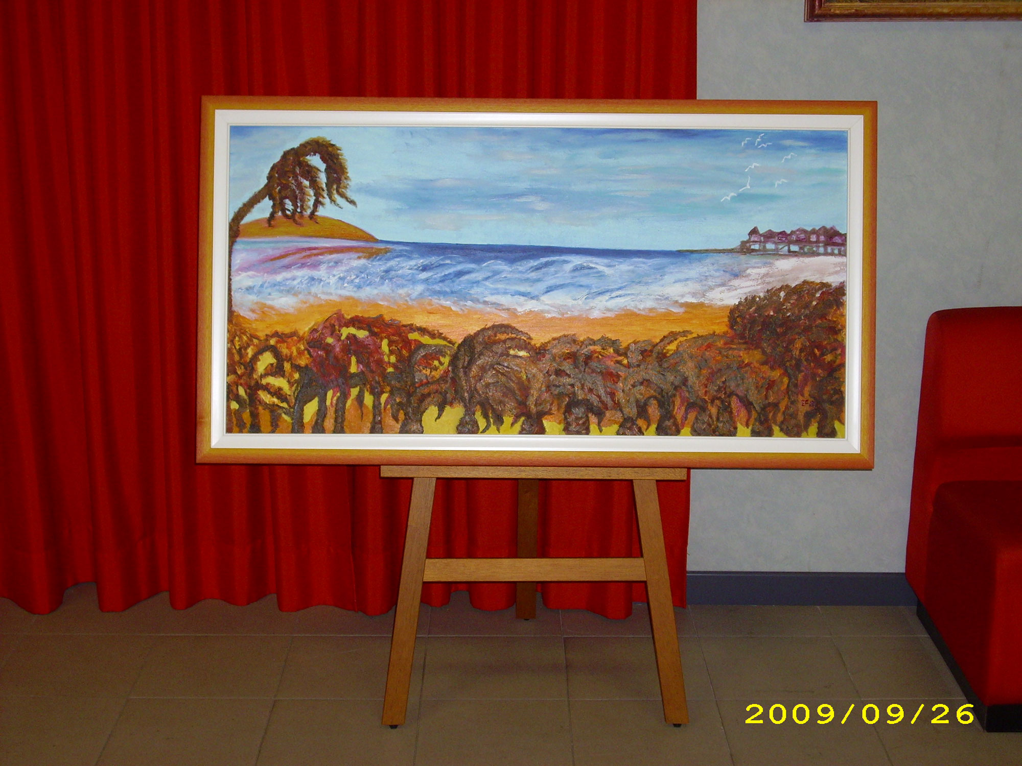Dimenticati paradisi - I colori del vento - Olio su tela 60x120cm