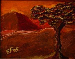 è Natale nella mia Africa - NATALE 2005 - Tecnica mista su tela 20 x 25