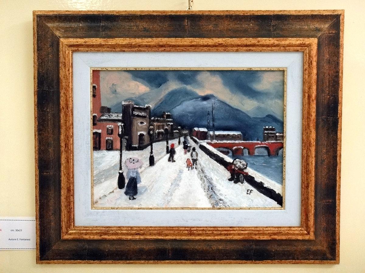 Blu di prussia - olio su tela 30x23cm - Natale 2009