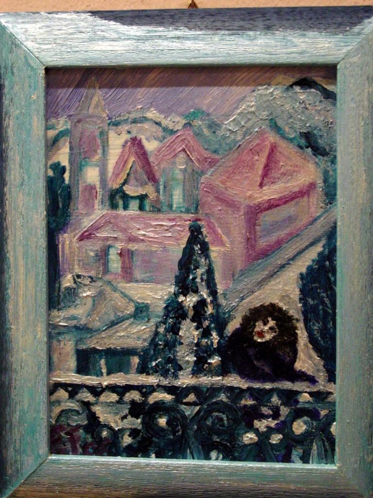 Brilluccichio Paese del ghiaccio - Tecnica mista su cartoncino - 17x23cm - Natale 2006