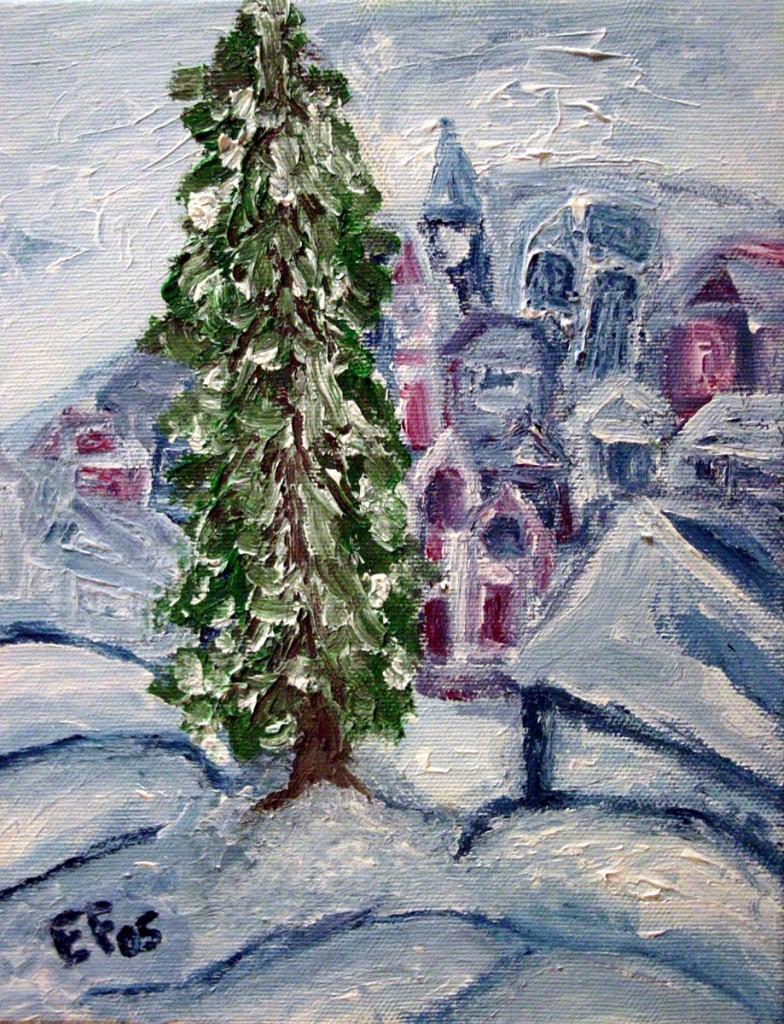 Natale 2005 - olio e acrilici su tela 20x25cm