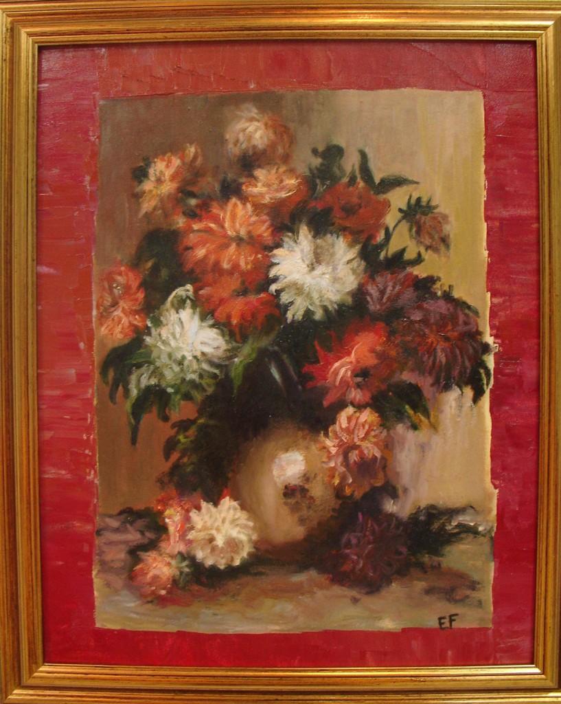 Vaso di fiori - olio su cartoncino telato - 40x50cm