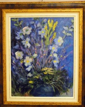 Celesti fiori - olio su cartoncino telato - 40x50cm