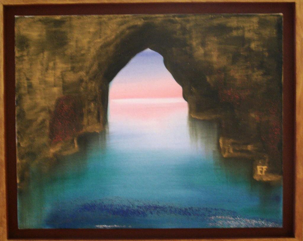 Grotta azzurra - olio su tela