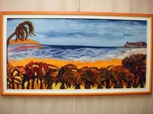 Dimenticati paradisi..i colori del vento --- olio e acrilici su tela 60x120cm