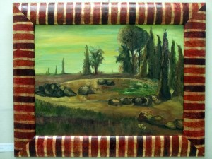 L'autunno in giardino - olio su tela 60x80cm