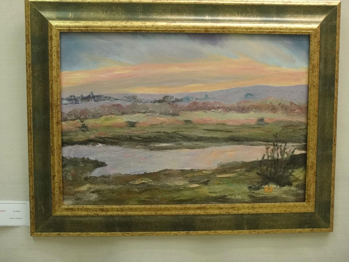 Tramonto - olio su tela - 35x5 0cm - Collezione Veronese Anna Maria