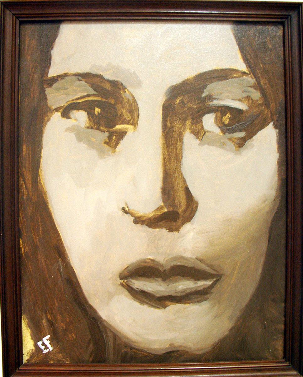 Cristina - 35x45cm - olio su tela