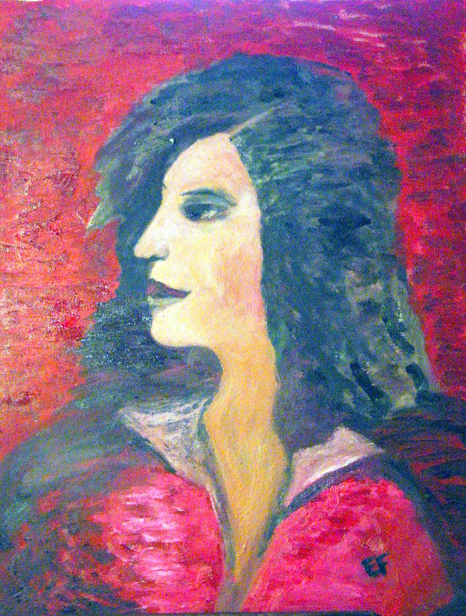''Madama la marchesa'' - 50x40 cm - olio su tela