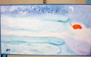 The kingdom of the snow - olio su pannello di legno compensato - agosto 2005 - 52x30 cm
